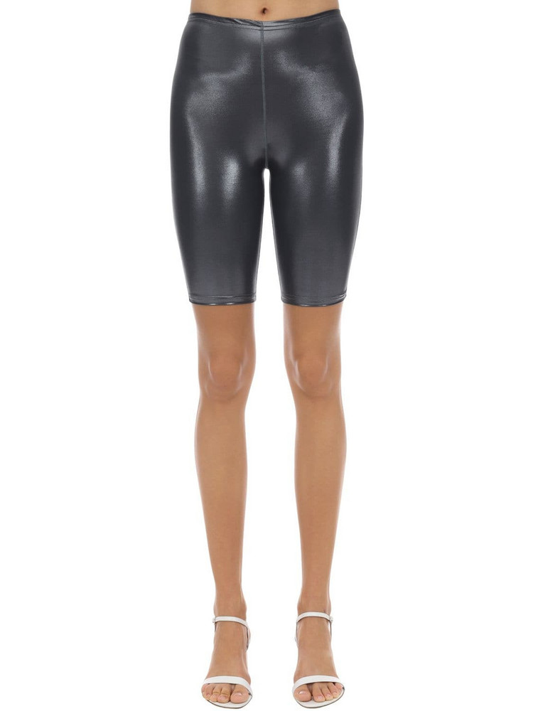 VELVET SOCK'S BY SIMONE WILD Metallic Techno Cycle Shorts in grey