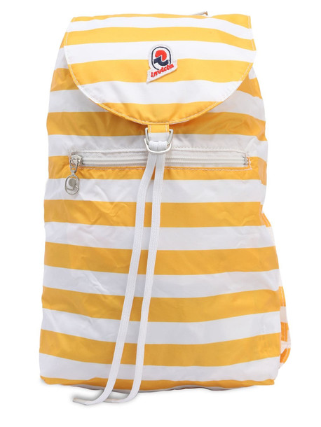 INVICTA Minisac Striped Backpack Nylon in white / yellow