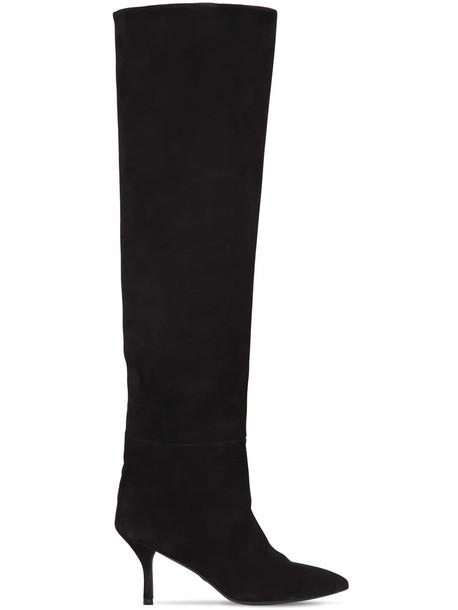 STUART WEITZMAN 75mm Millie Over-the-knee Suede Boots in black