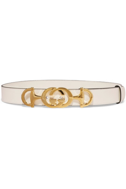 Gucci - Leather Belt - White