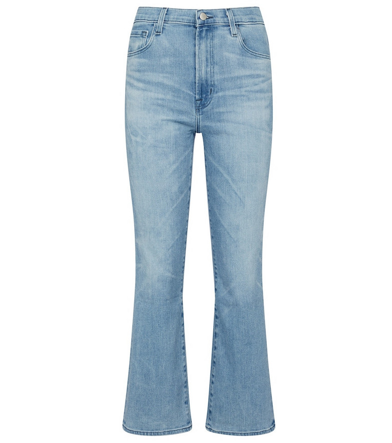 J Brand Franky high-rise bootcut jeans in blue