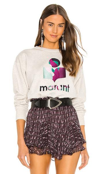 Isabel Marant Etoile Mobyli Sweatshirt in Light Grey in ecru