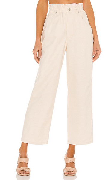 L'Academie The Che Pant in Cream in ivory