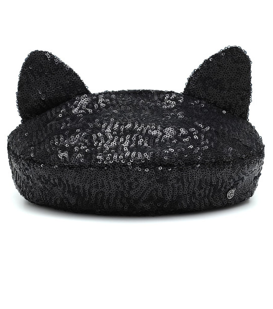 Maison Michel Billy sequinned beret in black