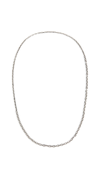 The Monotype The Nicholas Small Anchor and Chain Necklace in silver
