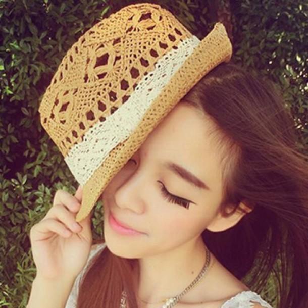hat fashion style summer cute girly spring beach trendsgal.com