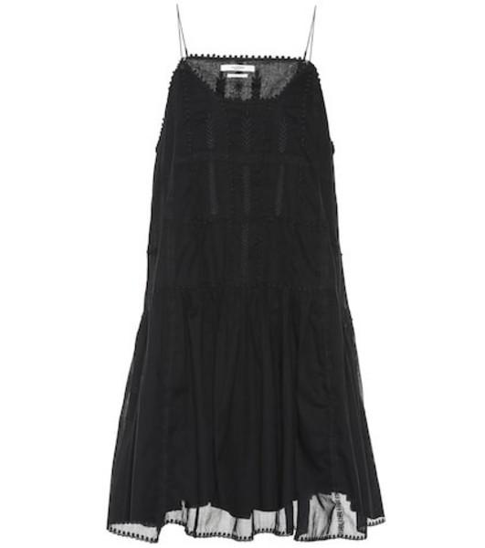 Isabel Marant, Étoile Amelie embroidered cotton dress in black
