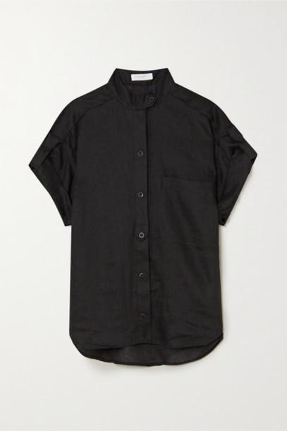 EQUIPMENT - Drace Linen Shirt - Black