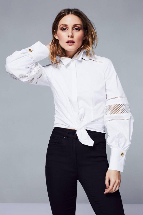top olivia palermo streetstyle streetwear shirt white