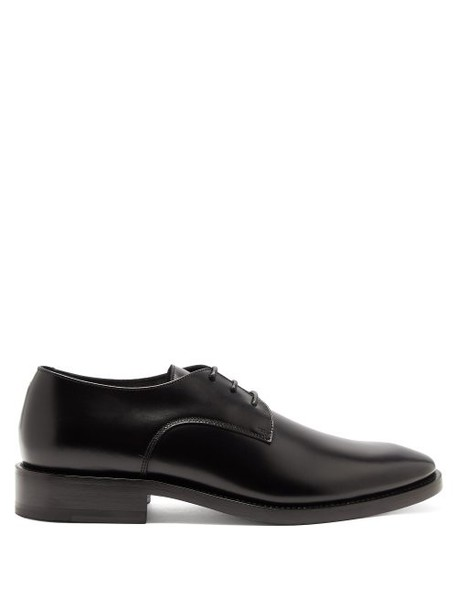 Balenciaga - Lace Up Leather Derby Shoes - Womens - Black