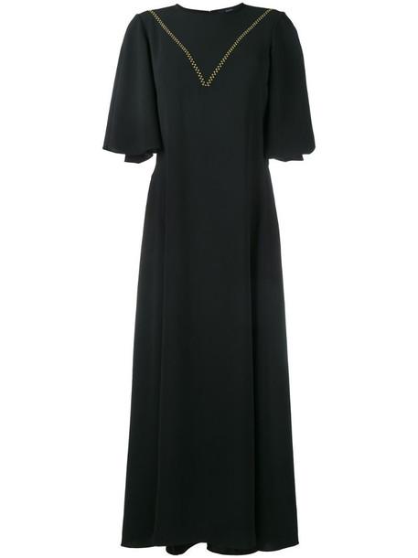 Ellery contrast stitch mid-length dress in black