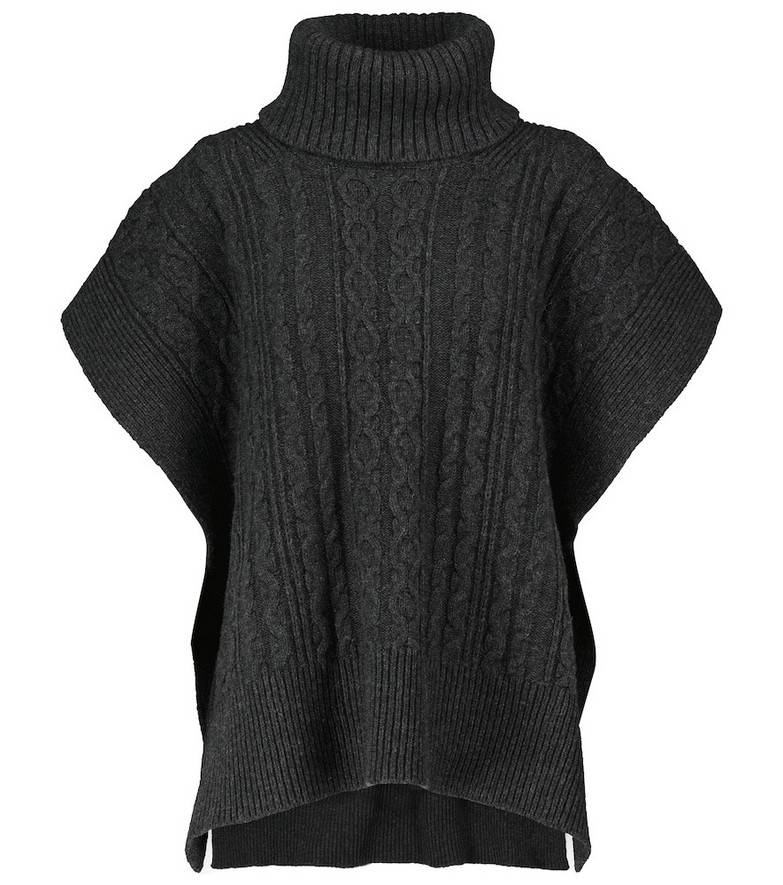 See By Chloé Cable-knit wool-blend sweater in black