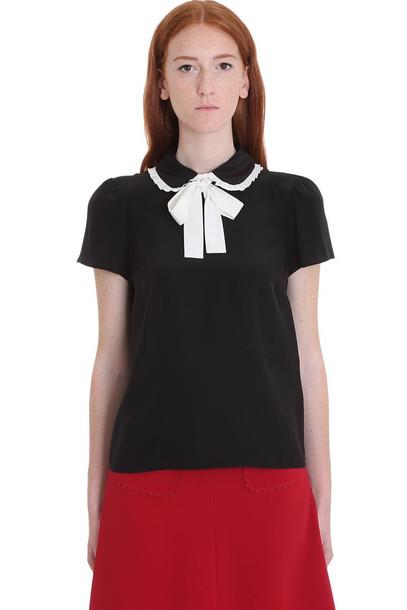 RED Valentino Shirt In Black Silk