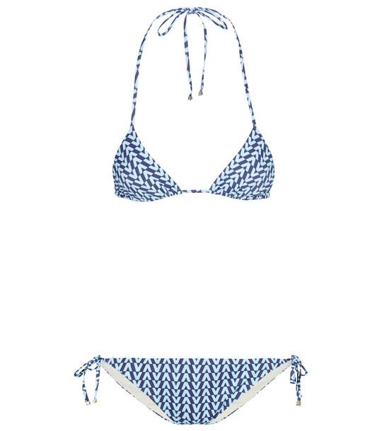 Valentino Exclusive to Mytheresa – Printed triangle bikini in blue
