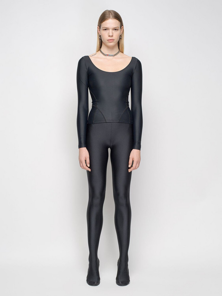 BALENCIAGA Organic Cotton Jersey Leggings in black