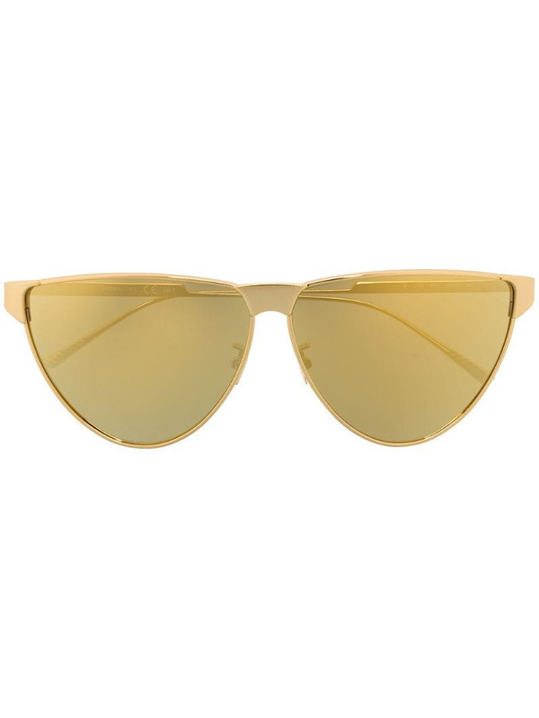 Bottega Veneta Eyewear BV1070s cat-eye sunglasses in gold