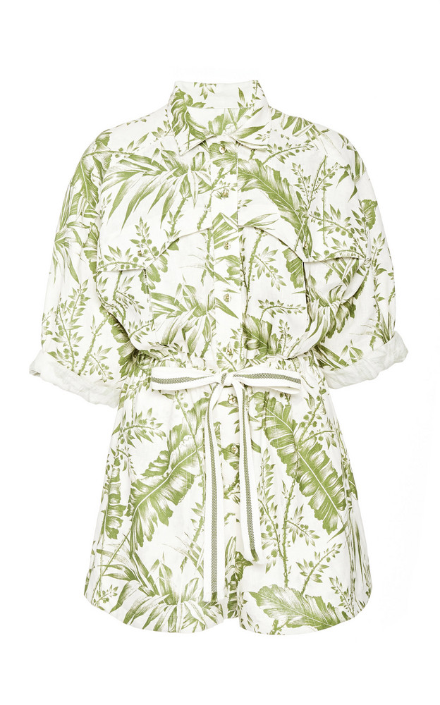 Zimmermann Empire Utility Playsuit Size: 0 in print