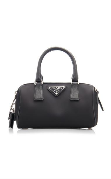 Prada Nylon Top Handle Bag in black