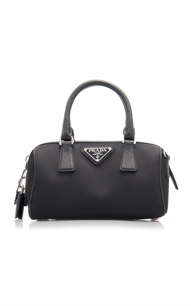 Prada Nylon Top Handle Bag in black
