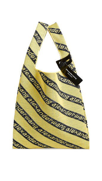 Alexander Wang Knit Jacquard Shopper Tote in yellow