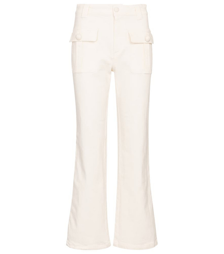 See By Chloé Mid-rise flared jeans in white