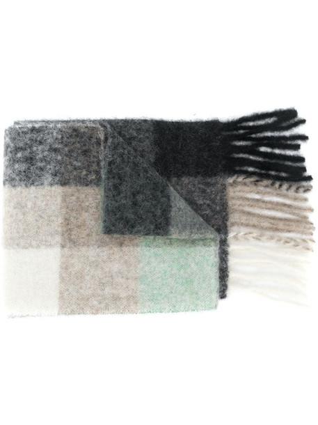 Acne Studios multi check scarf in black