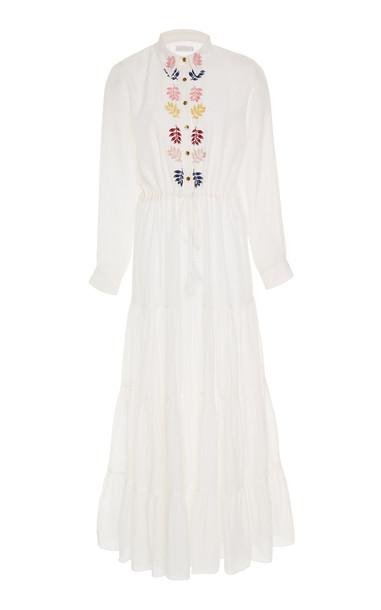 Carolina K Natalie Cotton-Blend Dress in white