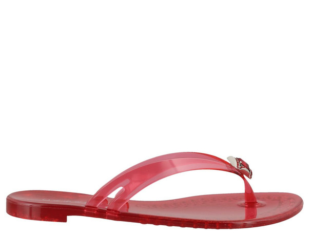 Casadei Beach Thong Sandals in red