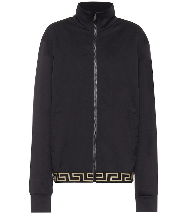 Versace Cotton-blend jacket in black