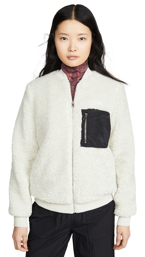 Paul Smith Shearling Jacket in white