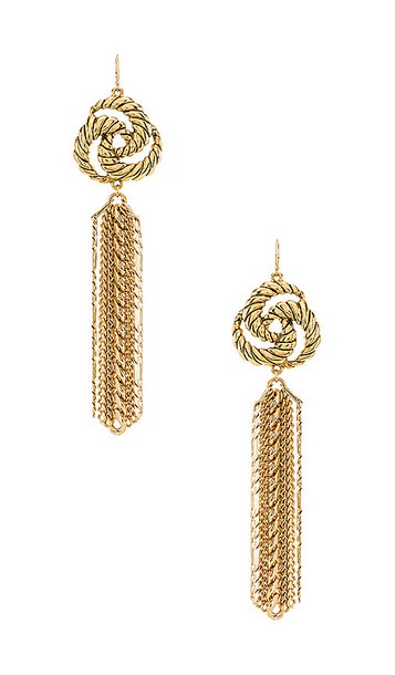 Vanessa Mooney The Catalina Earrings in Metallic Gold