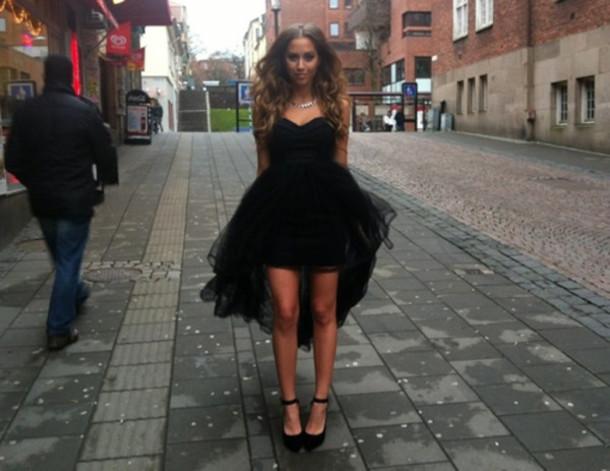 belt dress prom black
