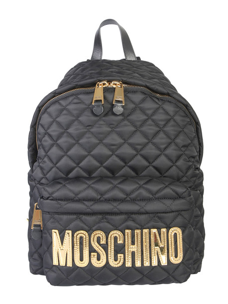 Moschino Quilted Backpack in nero