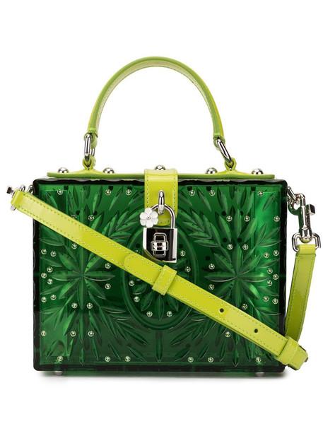 Dolce & Gabbana Cinderella Dolce Box tote bag in green