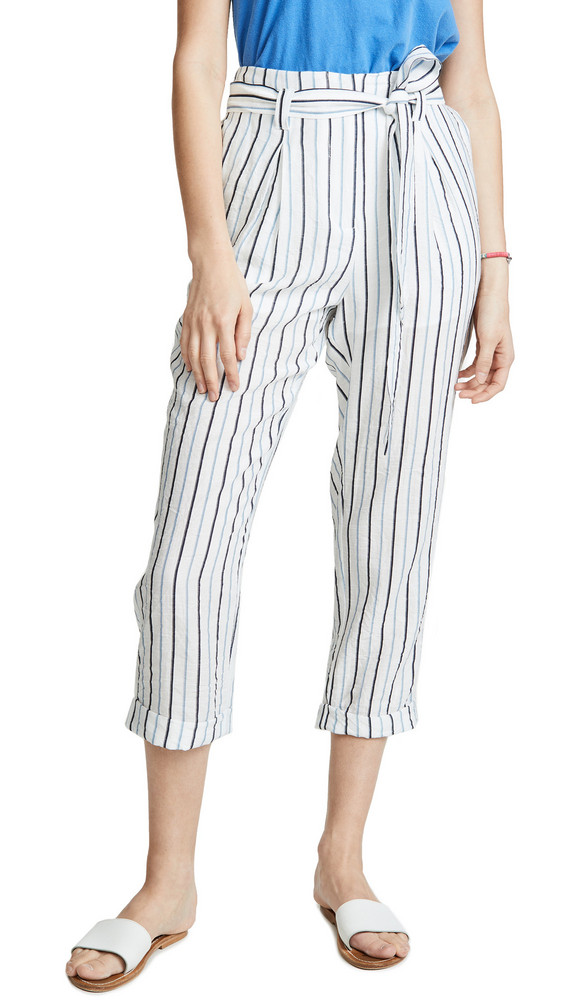Moon River Striped Trousers in blue
