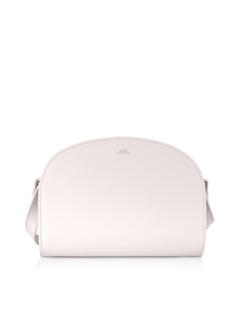 A.P.C. A.p.c. Half Moon Smooth Leather Crossbody in natural