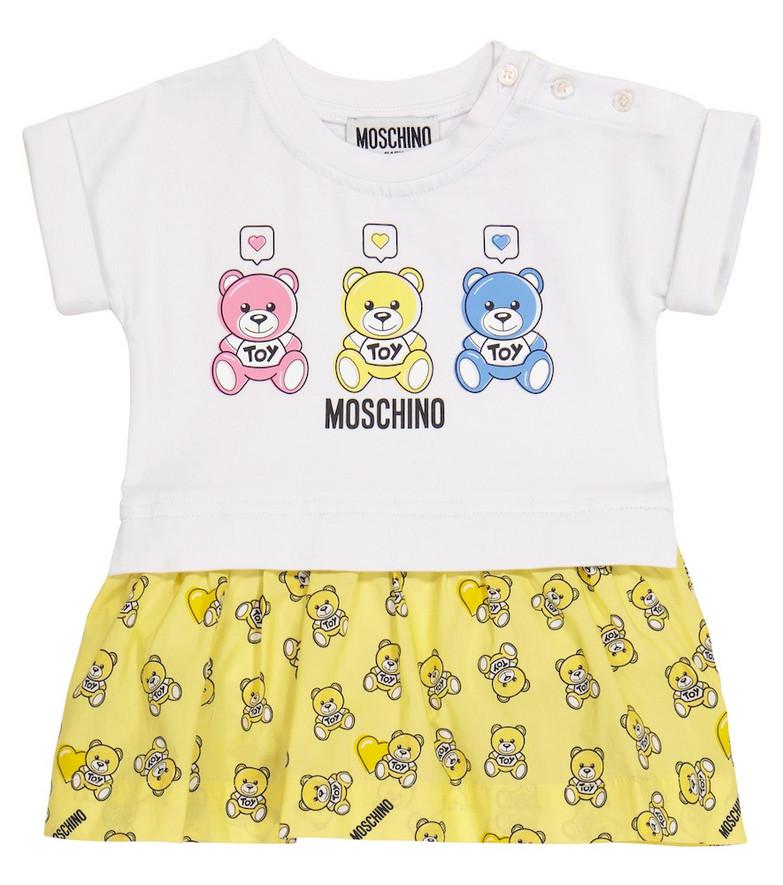 Moschino Kids Baby stretch-cotton dress in yellow