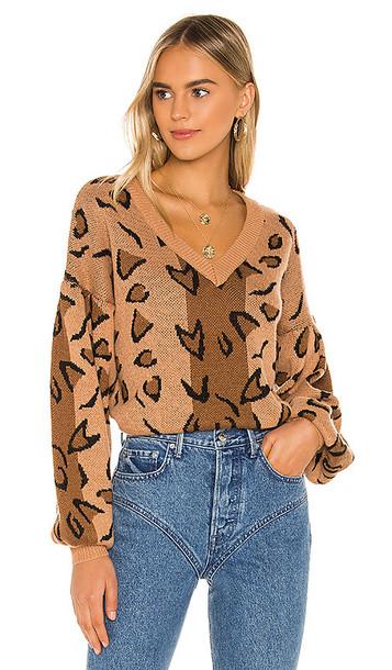 Tularosa Leopard Sweater in Brown