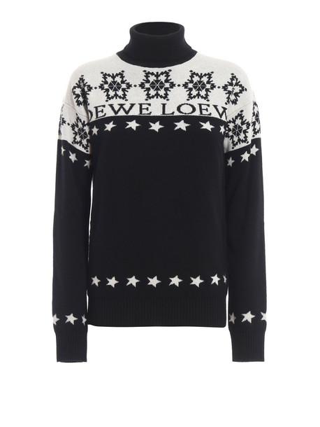 Loewe Snowflake Sweater in black / white