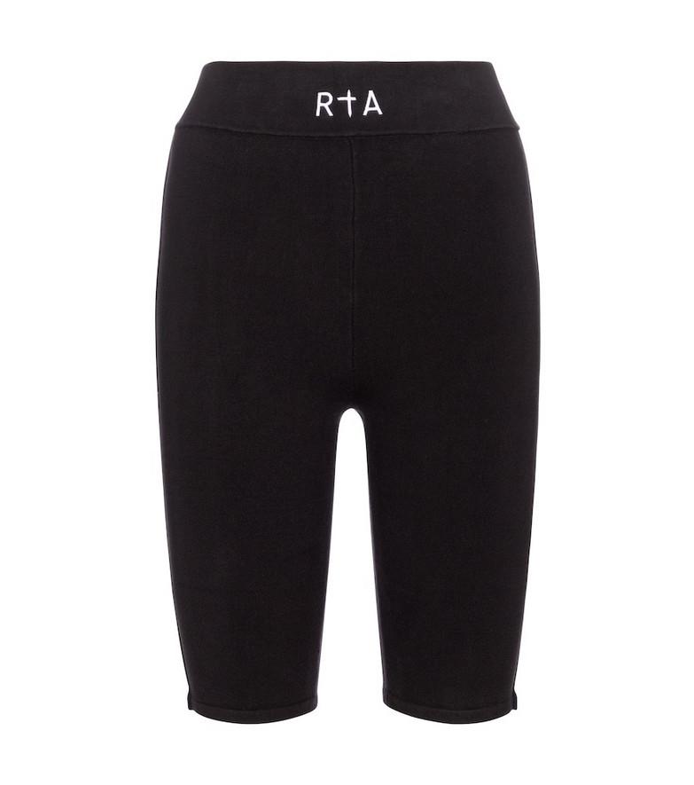 RtA Simon biker shorts in black