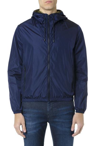 Fay F-way Blue Technical Fabric Jacket