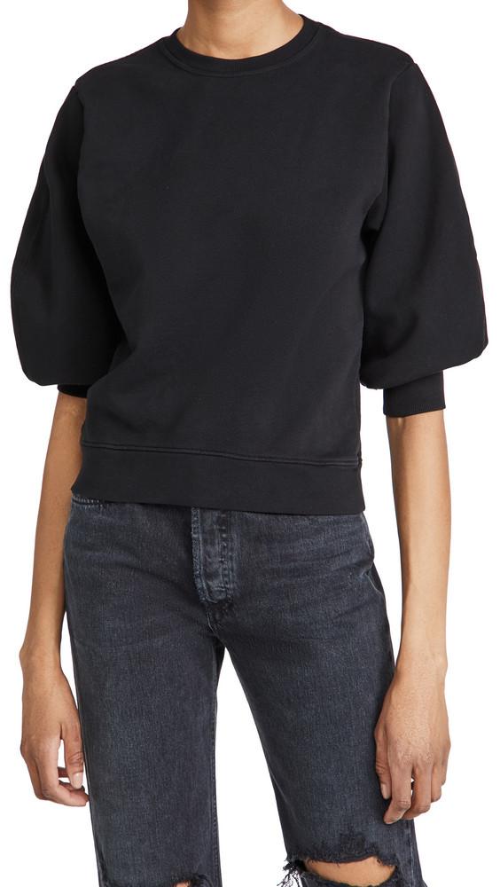 AGOLDE Thora 3/4 Sleeve Sweatshirt in black