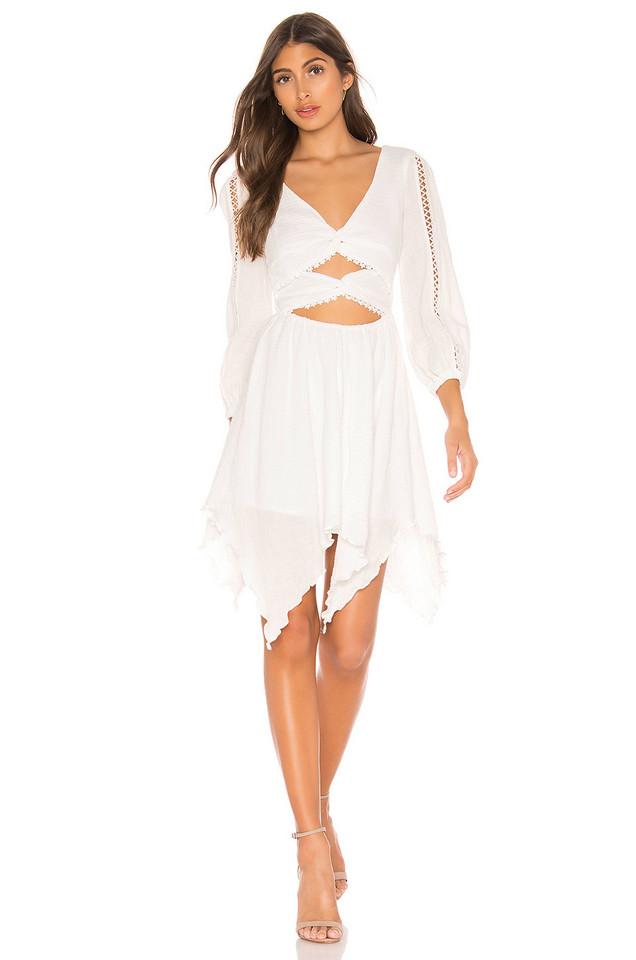 MAJORELLE Cambria Mini Dress in white