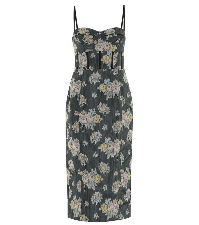 Brock Collection Floral dress in black