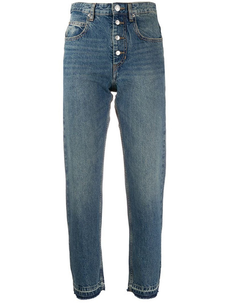 Isabel Marant Étoile high rise straight jeans in blue