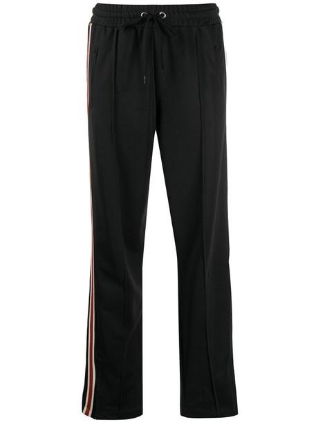ANINE BING stripe detail track trousers in black