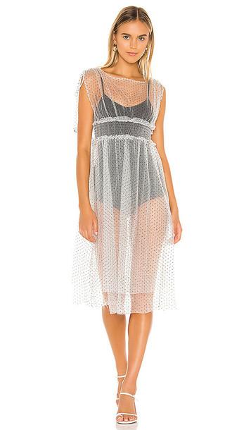 MAJORELLE Leonardo Midi Dress in White