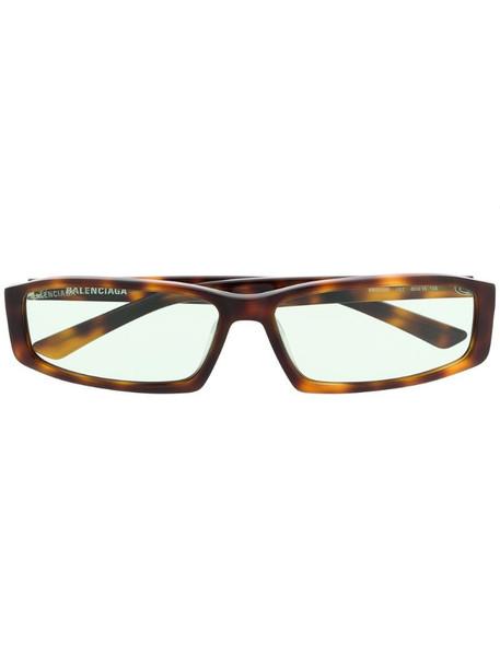 Balenciaga Eyewear narrow rectangular-frame sunglasses in brown
