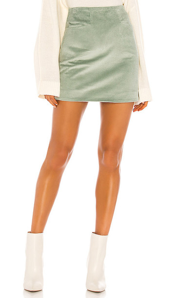 Song of Style Joelle Mini Skirt in Sage in green