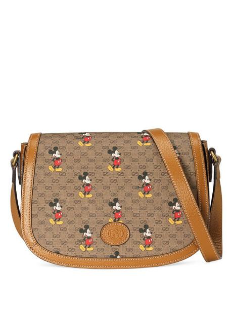 Gucci x Disney cotton-canvas shoulder bag in neutrals